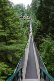Capilano Bridge in Vancouver Stock Image