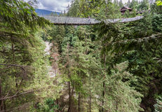 Capilano Bridge in Vancouver Royalty Free Stock Images