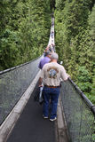 Capilano-Hängebrücke Lizenzfreies Stockfoto