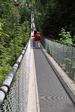 Capilano-Hängebrücke Stockfotos