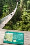 Capilano-Hängebrücke über Capilano-Fluss, Vancouver Lizenzfreie Stockfotos