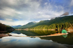 Capilano Lake reservoir Royalty Free Stock Images