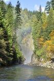 Capilano liten vik i hösten Royaltyfri Foto