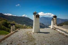 Capileira chimneys Royalty Free Stock Photo