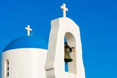 Capilla blanca Protaras, Chipre Foto de archivo