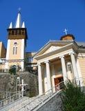 Capilla católica en los baños de Hércules, Rumania Fotos de archivo libres de regalías