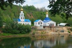 Capilla cerca a la carretilla de Tsar, Samara Foto de archivo