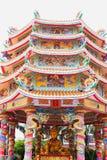 Capilla china del arte en Tailandia Es la adoración de la gente en Chonburi, Tailandia Foto de archivo