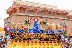 Capilla china del arte en Tailandia Es la adoración de la gente en Chonburi, Tailandia Imágenes de archivo libres de regalías