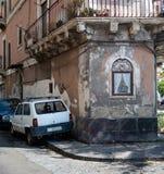 Capilla cristiana en Catania Imagen de archivo libre de regalías