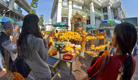 Capilla de Erawan en Bangkok Fotografía de archivo libre de regalías