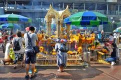 Capilla de Erawan en Bangkok Fotografía de archivo