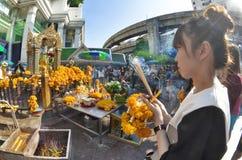 Capilla de Erawan en Bangkok Imágenes de archivo libres de regalías