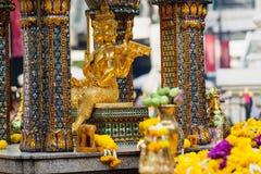 Capilla de Erawan en Bangkok, Tailandia imagenes de archivo