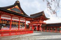 Capilla de Fushimi Inari, Kyoto Foto de archivo libre de regalías