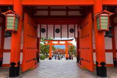 Capilla de Fushimi Inari Taisha, Kyoto Foto de archivo libre de regalías