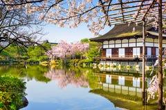 Capilla de Heian de Kyoto Imagen de archivo libre de regalías