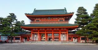 Capilla de Heian en Kyoto Fotos de archivo libres de regalías