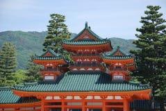 Capilla de Heian-Jingu, Kyoto Fotografía de archivo