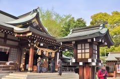 Capilla de Izumi en el jardín de Suizenji Jojuen en Kumamoto, Japón Fotos de archivo