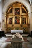 Capilla de la catedral de Burgos imagen de archivo