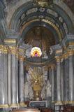 Capilla de la catedral de Wroclaw de Johann Fischer von Erlach del arquitecto también Schonbrunn imagen de archivo libre de regalías