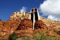 Capilla de la cruz santa en Sedona Fotografía de archivo