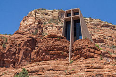 Capilla de la cruz santa en Sedona, los E.E.U.U. Imagenes de archivo