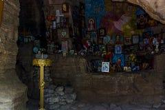 Capilla de la roca de Pantaleon del santo, siglo de XII-XIV Fotografía de archivo libre de regalías