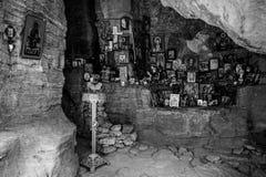 Capilla de la roca de Pantaleon del santo, siglo de XII-XIV Imagen de archivo libre de regalías