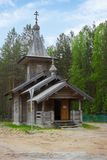 Capilla de la suposición de la Virgen María bendecida en Medvezhyegorsk n imagen de archivo libre de regalías