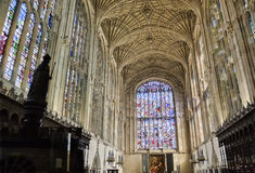 Capilla de la universidad del rey, Cambridge Imagen de archivo