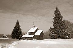 Capilla de madera fotografía de archivo libre de regalías