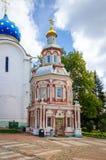 Capilla de Nadkladeznaya en St Sergius Lavra de la trinidad santa Imagen de archivo