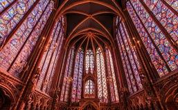 Capilla de Sainte-Chapelle en París fotografía de archivo