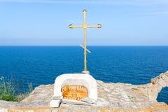 Capilla de San Nicolás en el cabo Kaliakra Imagen de archivo libre de regalías