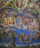 Capilla de Sistine - el juicio pasado de Miguel Ángel foto de archivo