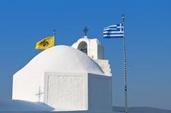 Capilla de Smal en una isla griega Fotos de archivo libres de regalías