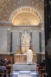 Capilla de St Benedicto en el fuori le Mura de Papale San Paolo de la basílica Foto de archivo
