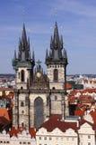 Capilla de Tyn en Praga Fotos de archivo libres de regalías