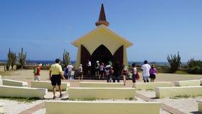 Capilla de Vista del alto en Aruba Imágenes de archivo libres de regalías