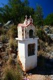 Capilla del borde de la carretera, Grecia fotos de archivo libres de regalías