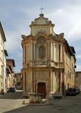 Capilla del della Rosario de Madonna en Siena Imagen de archivo libre de regalías