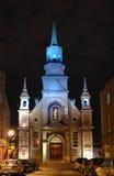 Capilla del Notre-Dama-de-Bonsecours en Montreal Foto de archivo libre de regalías