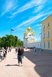 Capilla del oeste en el parque de Peterhof Fotos de archivo