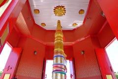 Capilla del pilar de la ciudad de Phitsanulok la madera sagrada Imagenes de archivo
