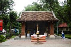 Capilla del pilar de la ciudad de Kamphaengphet en la ciudad de centro en Kamphaeng Phet, Tailandia Imágenes de archivo libres de regalías