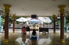 Capilla del pilar de la ciudad de Kamphaengphet en la ciudad de centro en Kamphaeng Phet, Tailandia Imagenes de archivo