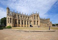 Capilla del ` s de San Jorge en Windsor, Inglaterra, Reino Unido imagen de archivo