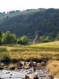 Capilla del St. Kevin en Glendalough Fotos de archivo